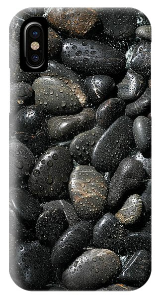 Wet iPhone Case - Wet River Rocks  by Michael Ledray