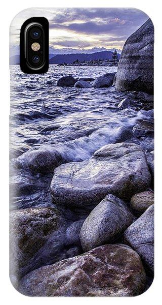 Wet Rocks At Sunset IPhone Case