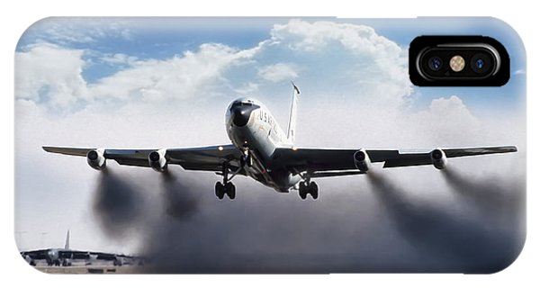 Airplane iPhone Case - Wet Takeoff Kc-135 by Peter Chilelli