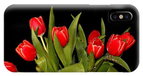 Wet Tulips IPhone Case