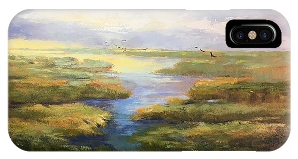 IPhone Case featuring the painting Wetlands by Helen Harris