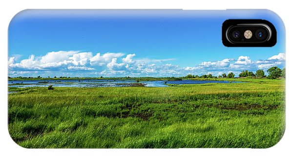 Wetlands On A Windy Spring Day IPhone Case