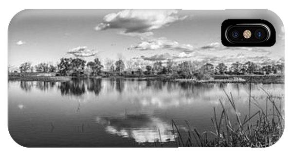 Wetlands Panorama Monochrome IPhone Case