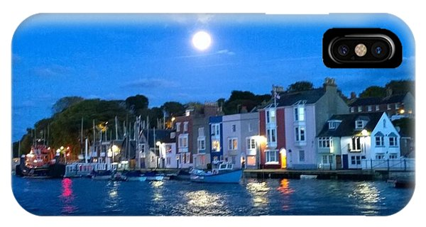 Weymouth Harbour, Full Moon IPhone Case