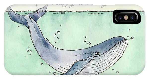 Whales iPhone Case - Whale Happy Birthday Card by Katrina Davis