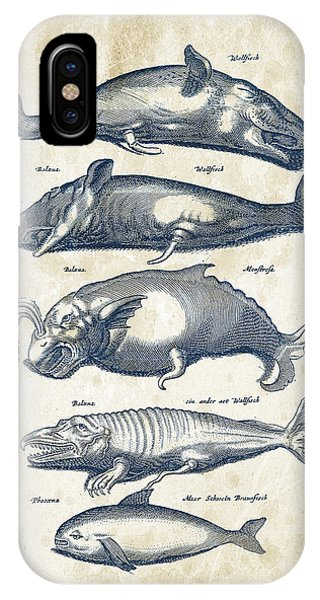 Whales iPhone Case - Whale Historiae Naturalis 08 - 1657 - 41 by Aged Pixel
