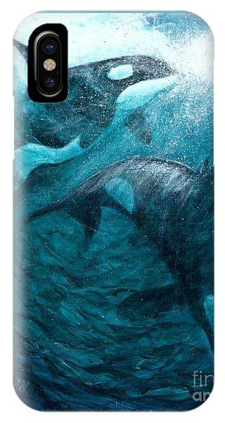 Whales  Ascending  Descending IPhone Case