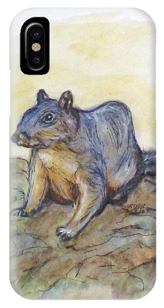 IPhone Case featuring the painting What Are You Looking At? by Clyde J Kell