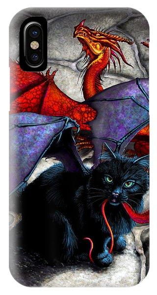 Dragon iPhone Case - What The Catabat Dragged In by Stanley Morrison