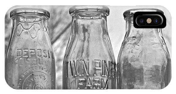What The Milk Man Left, Bw IPhone Case