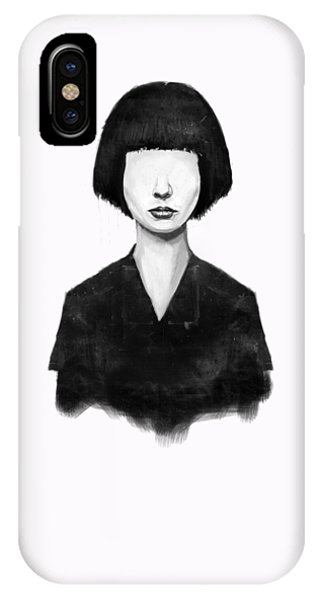 Portraits iPhone X / XS Case - What You See Is What You Get by Balazs Solti