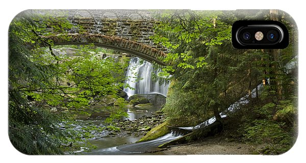 Whatcom Falls Bridge IPhone Case
