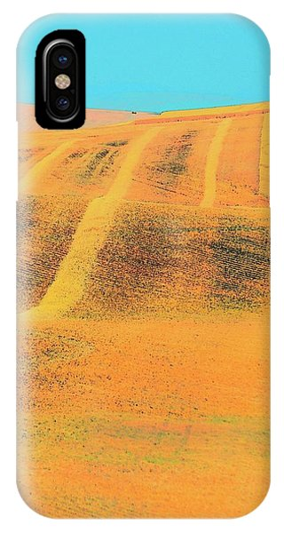 IPhone Case featuring the photograph Wheat And Straw Lines by Jerry Sodorff