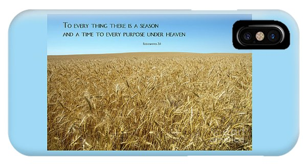 IPhone Case featuring the photograph Wheat Field Harvest Season by Steven Frame