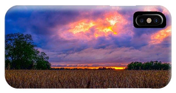 Wheat Field Sunset IPhone Case