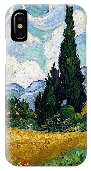 IPhone Case featuring the painting Wheatfield With Cypresses by Van Gogh