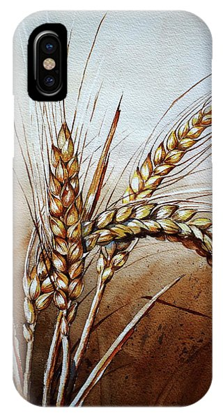 Protein iPhone Case - Wheat Stalk by Jelly Starnes
