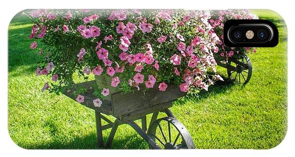 2004 - Wheel Barrow Full Of Flowers IPhone Case