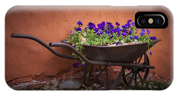 Wheelbarrow Full Of Pansies IPhone Case