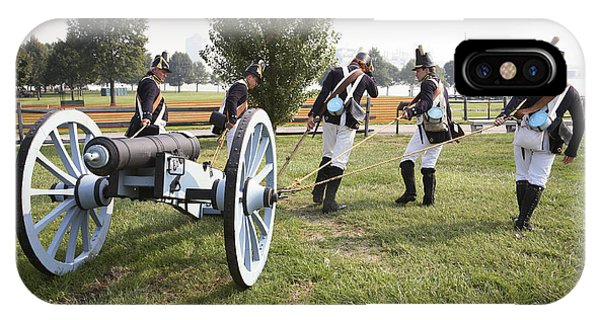 Wheeling The Cannon At Fort Mchenry In Baltimore Maryland IPhone Case