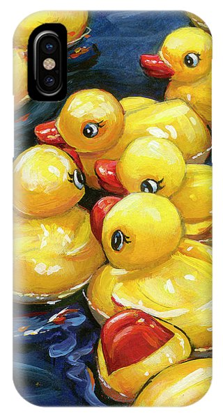 When Ducks Gossip IPhone Case