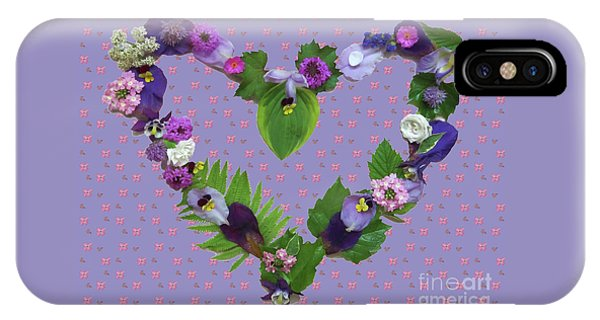 IPhone Case featuring the mixed media When Love Is New by Nancy Lee Moran