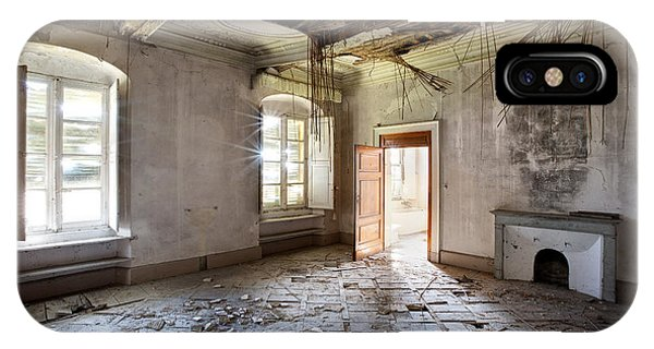 When The Ceiling Comes Down - Urban Exploration IPhone Case