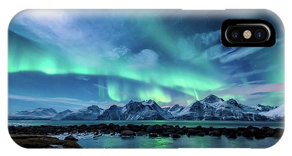 Pond iPhone Case - When The Moon Shines by Tor-Ivar Naess
