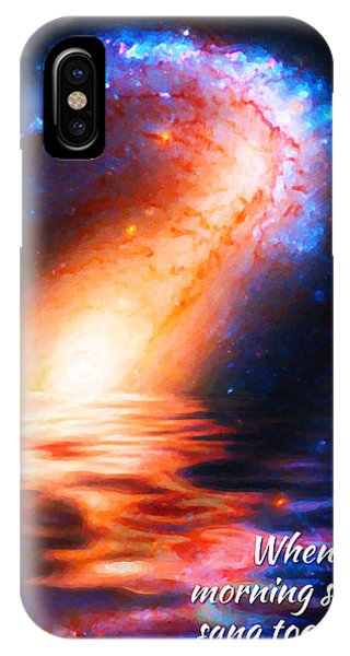 When The Morning Stars Sang IPhone Case
