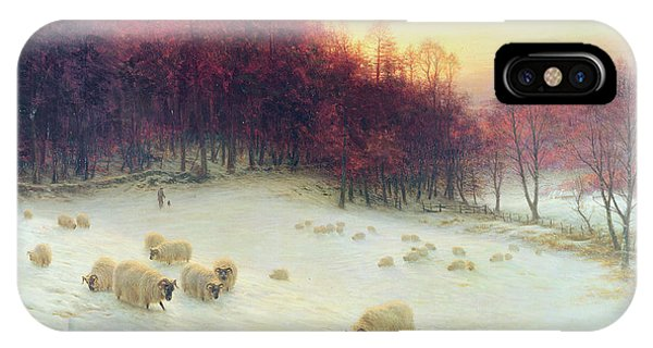 Sheep iPhone Case - When The West With Evening Glows by Joseph Farquharson