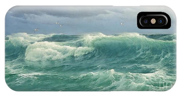 When The Wind Blows The Sea In IPhone Case