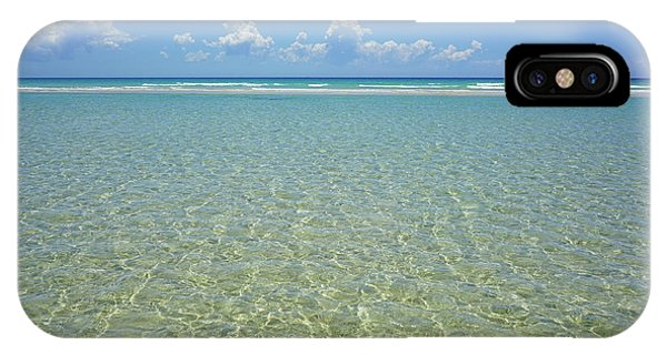 Where Crystal Clear Ocean Waters Meet The Sky IPhone Case