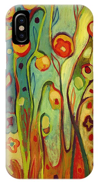 Red iPhone X Case - Where Does Your Garden Grow by Jennifer Lommers