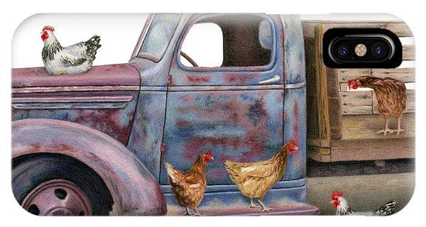 Barnyard iPhone Case - The Flock Spot  by Sarah Batalka