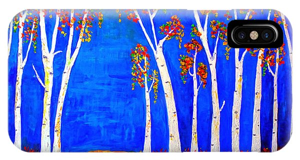 Whimsical Birch Trees IPhone Case