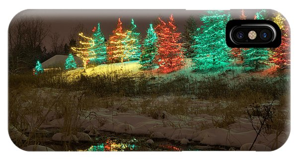 Whimsical Christmas Lights IPhone Case