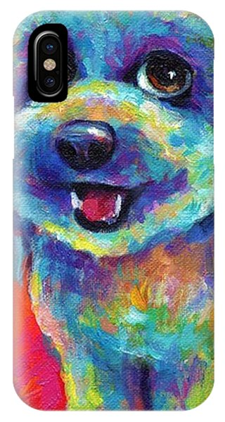 Whimsical Labradoodle Painting By IPhone Case