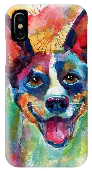 iPhone Case - Whimsical Rat Terrier Dog Painting by Svetlana Novikova
