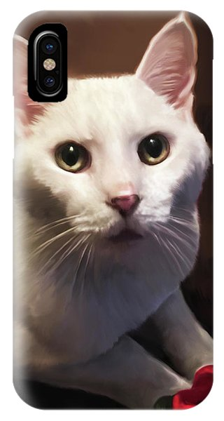 Whiskers And Rose IPhone Case