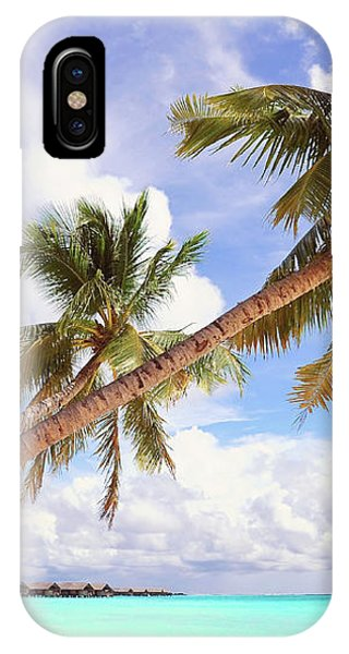 Whispering Palms. Maldives IPhone Case