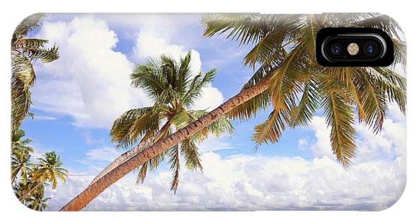 Whispering Palms. Maldives IPhone Case