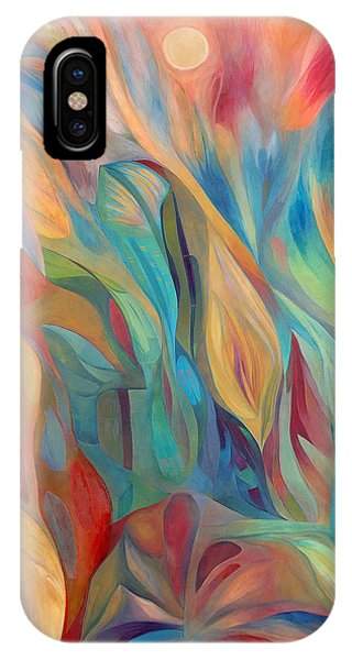 IPhone Case featuring the painting Whispers Of Immortality 1 by Linda Cull