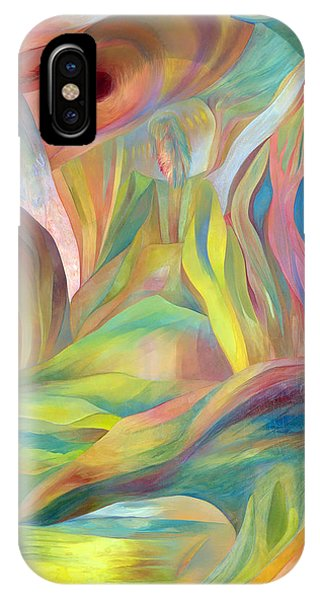 IPhone Case featuring the painting Whispers Of Immortality 2 by Linda Cull
