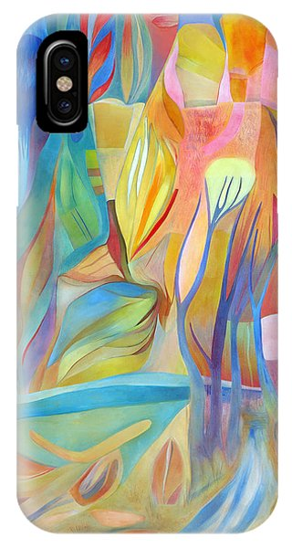 IPhone Case featuring the painting Whispers Of Immortality 3 by Linda Cull