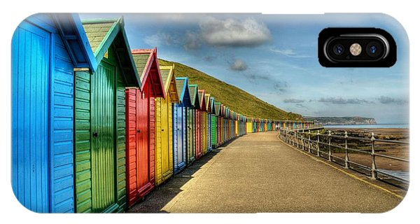 Whitby Beach Huts IPhone Case