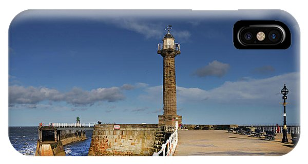 Pier iPhone Case - Whitby Lighthouse by Smart Aviation