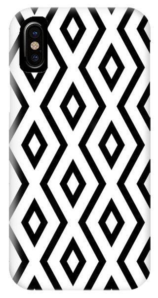 Square iPhone Case - White And Black Pattern by Christina Rollo