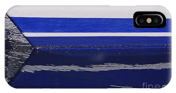 White And Blue Boat Symmetry IPhone Case