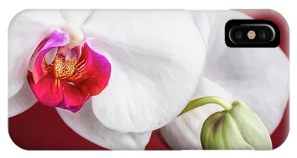 Orchid iPhone X Case - White And Red Orchids by Tom Mc Nemar
