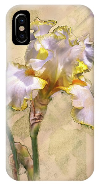 White And Yellow Iris IPhone Case